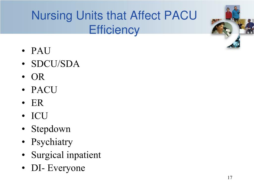 Nursing Units that Affect PACU Efficiency