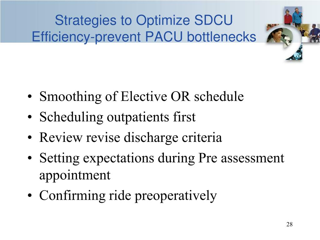Strategies to Optimize SDCU Efficiency-prevent PACU bottlenecks