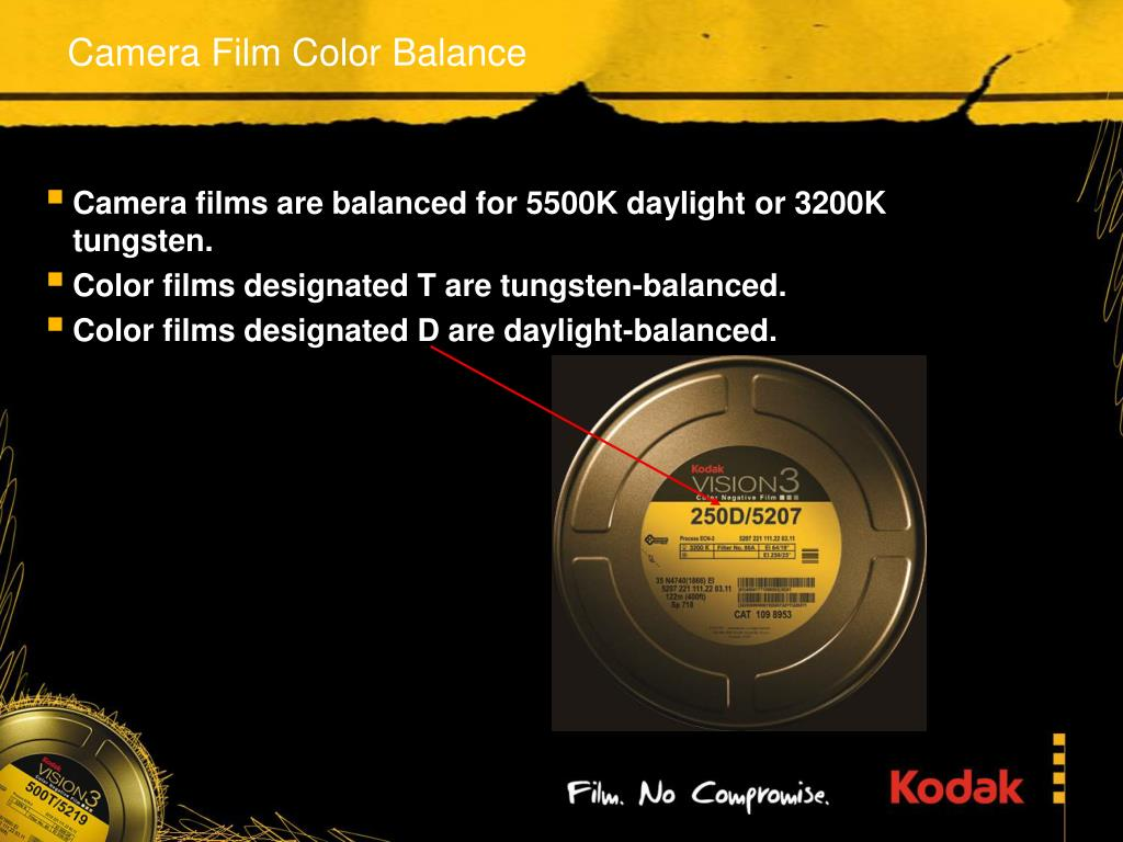 Camera Film Color Balance