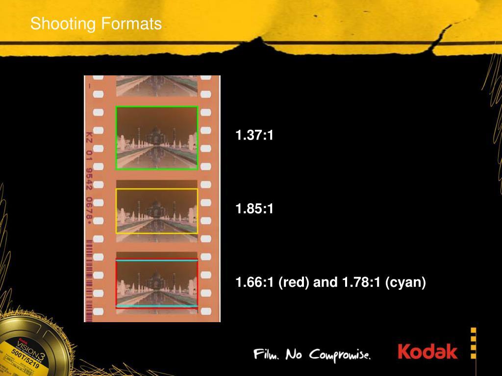 Shooting Formats