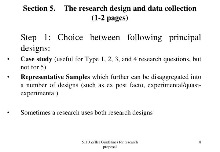 Section 5.The research design and data collection (1-2 pages)