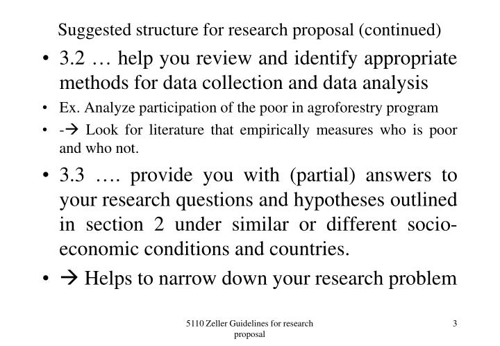 Suggested structure for research proposal continued1