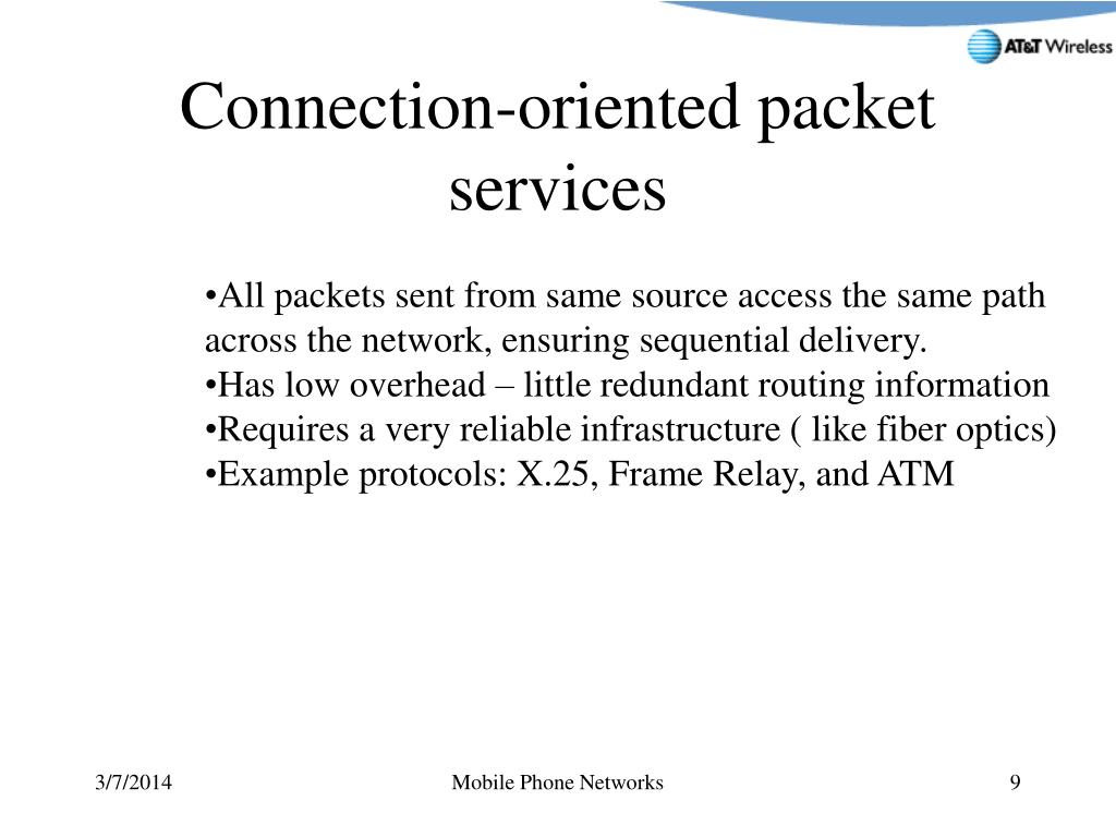 Connection-oriented packet services