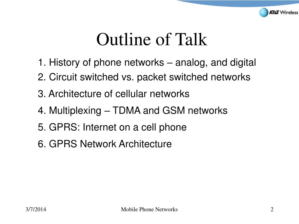 1. History of phone networks – analog, and digital