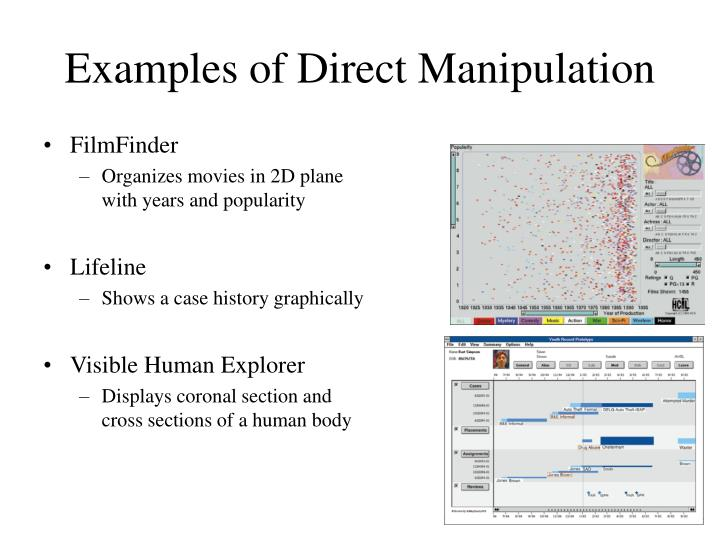 Examples of Direct Manipulation