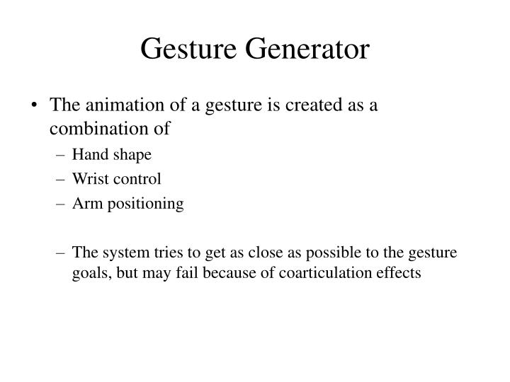 Gesture Generator