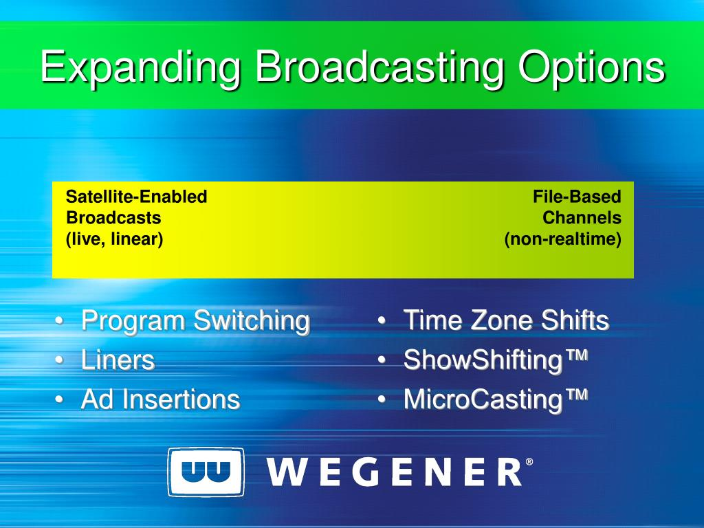 Expanding Broadcasting Options