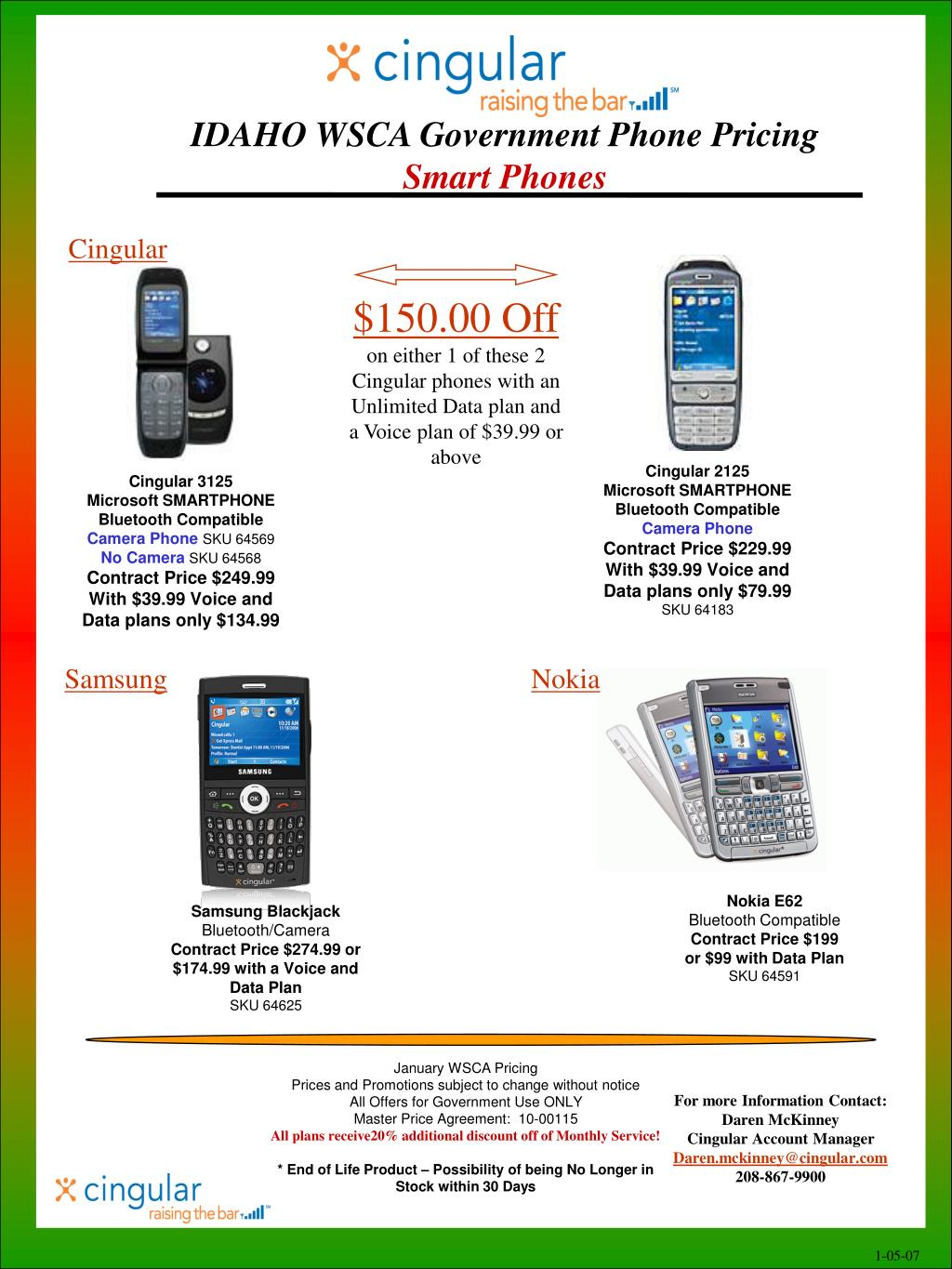 IDAHO WSCA Government Phone Pricing