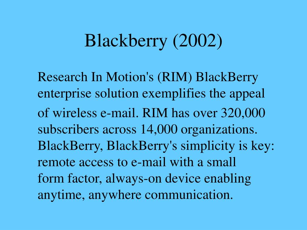 Blackberry (2002)