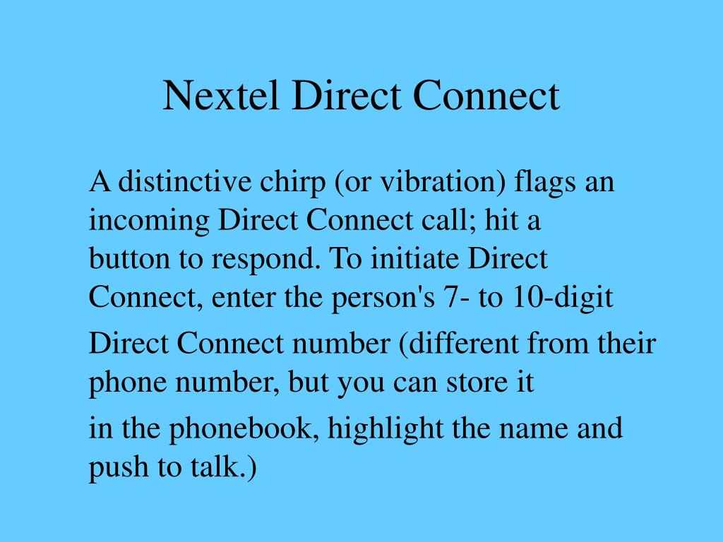 Nextel Direct Connect