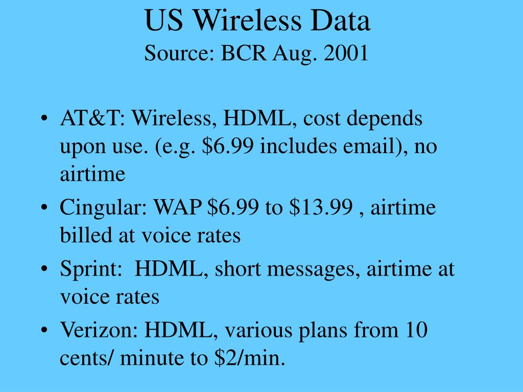 US Wireless Data