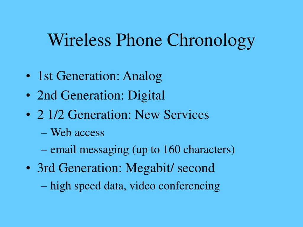 Wireless Phone Chronology