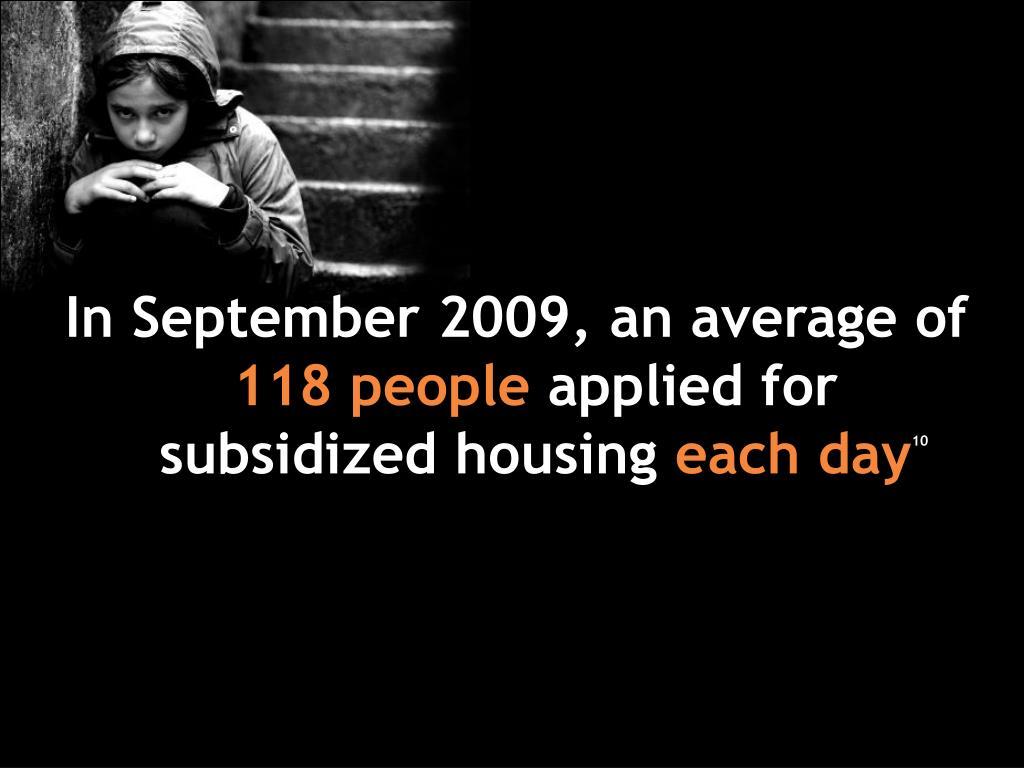 In September 2009, an average of