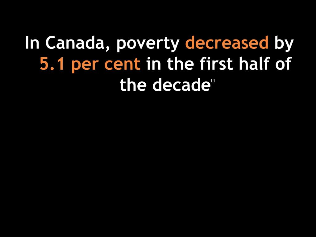 In Canada, poverty