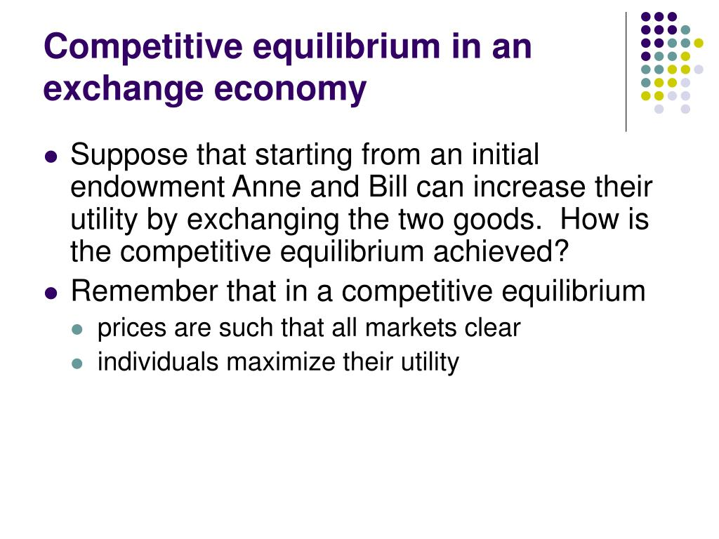 Competitive equilibrium in an exchange economy