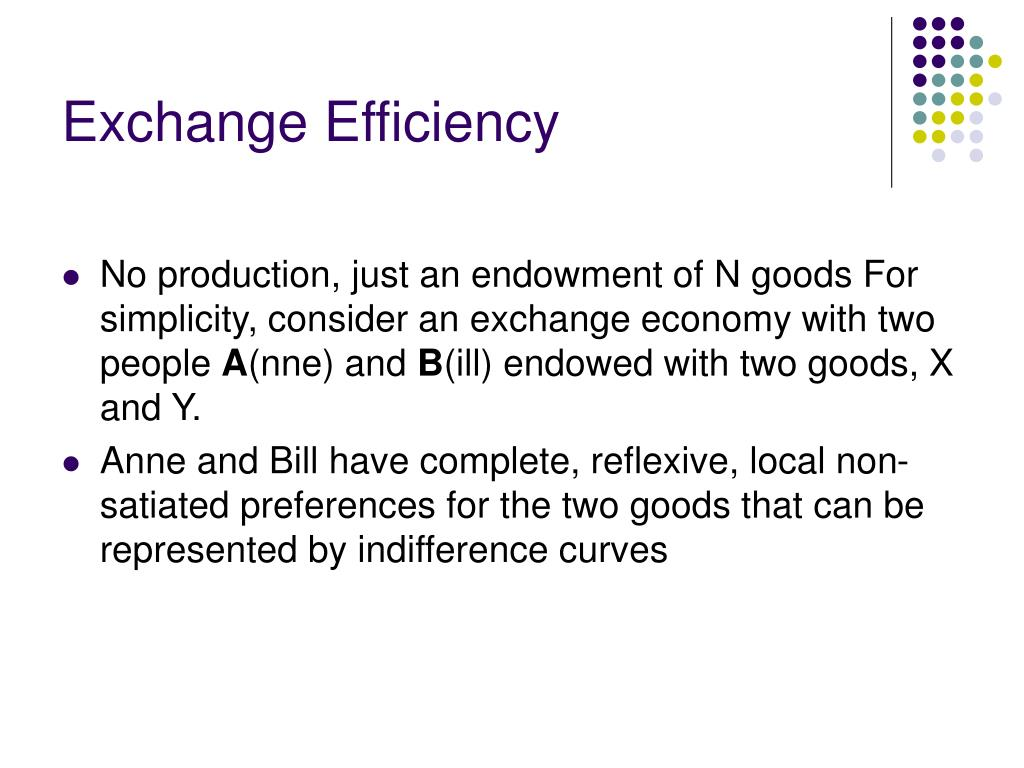Exchange Efficiency