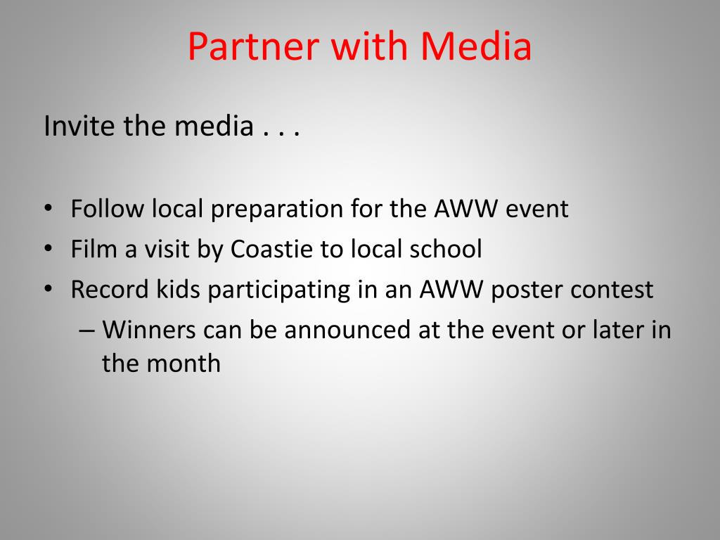 Partner with Media