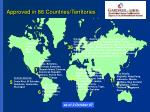 approved in 86 countries territories