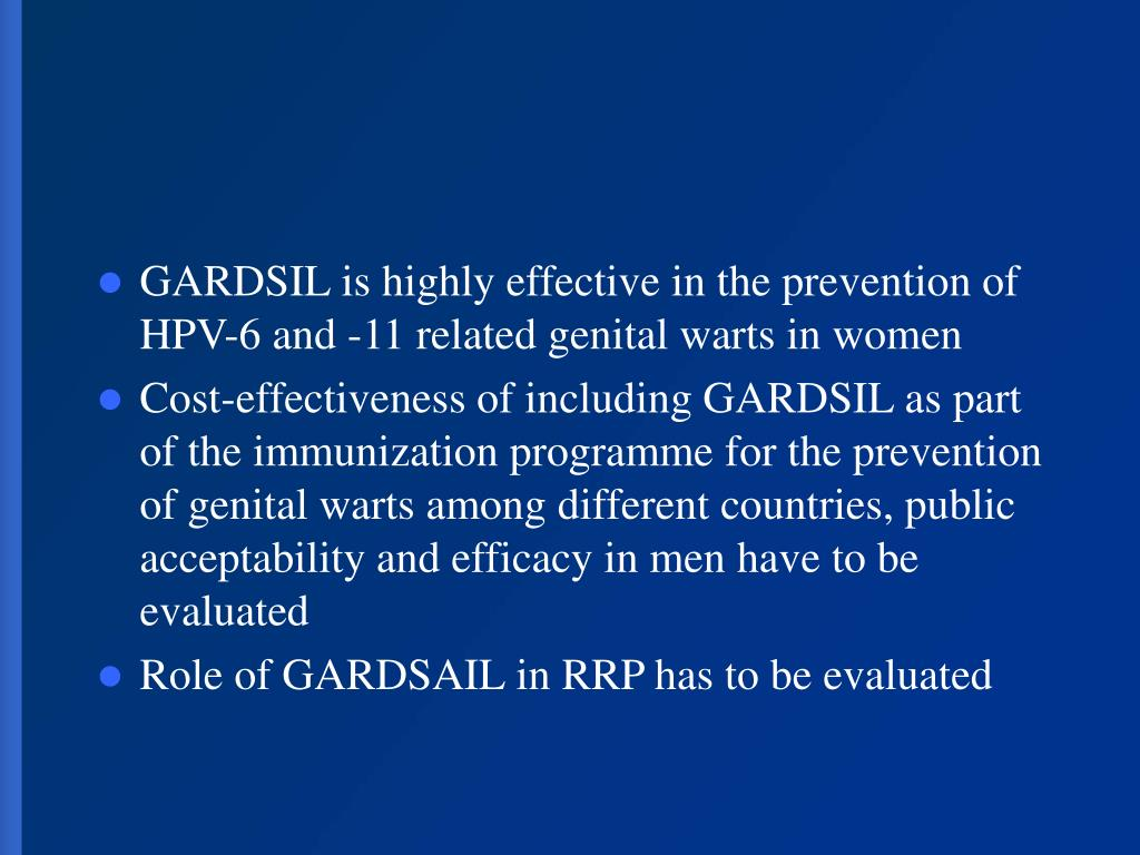 GARDSIL is highly effective in the prevention of HPV-6 and -11 related genital warts in women