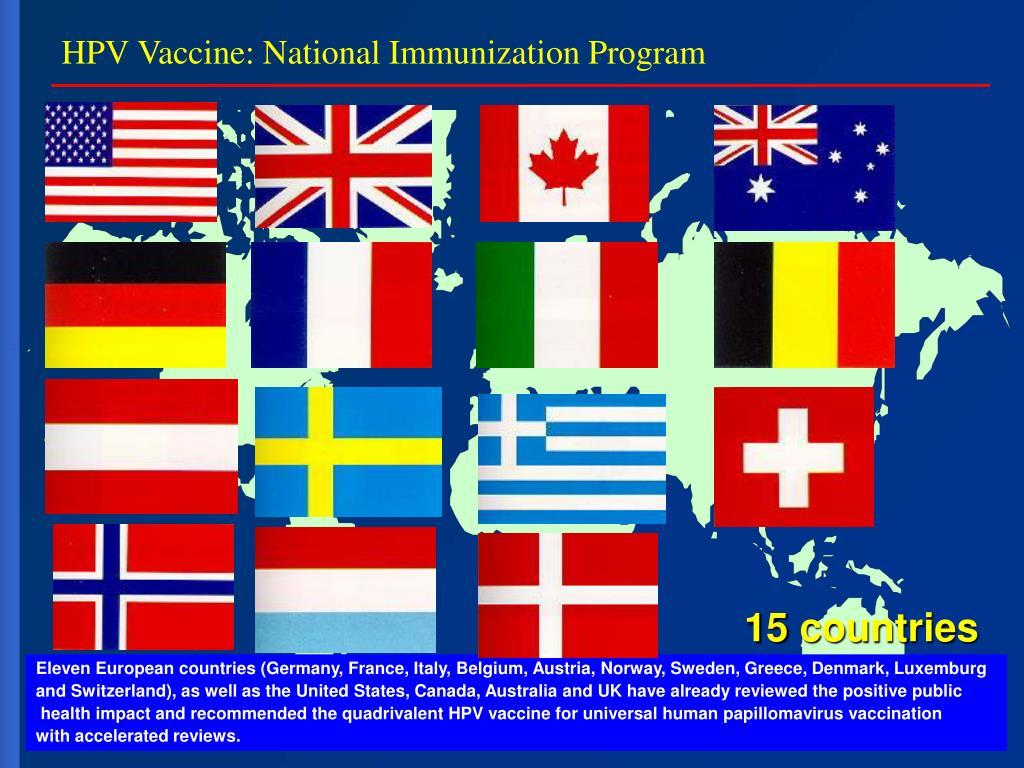 HPV Vaccine: National Immunization Program