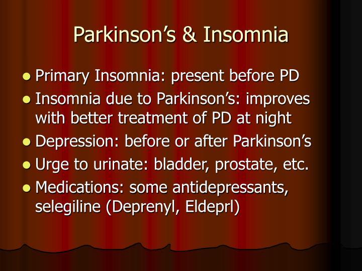 selegiline sleep disorders