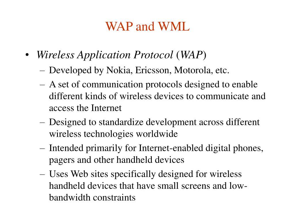 WAP and WML