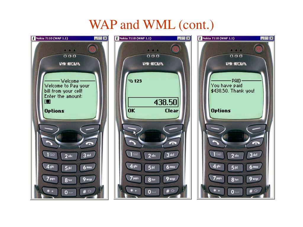 WAP and WML (cont.)