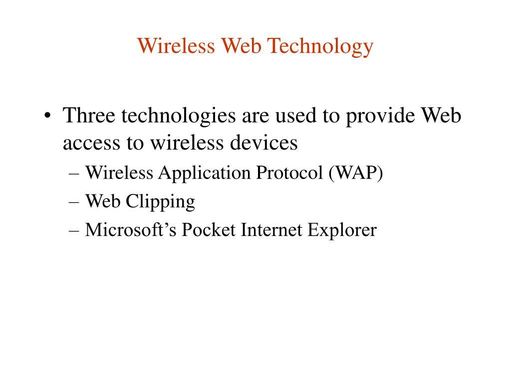 Wireless Web Technology