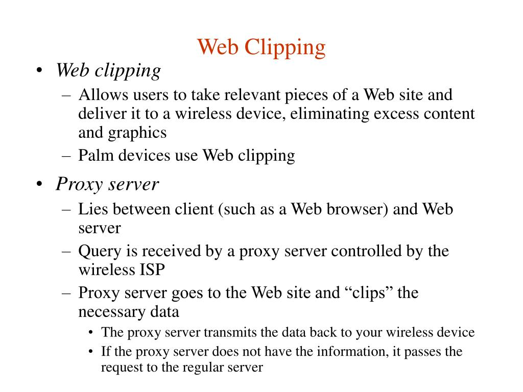 Web Clipping