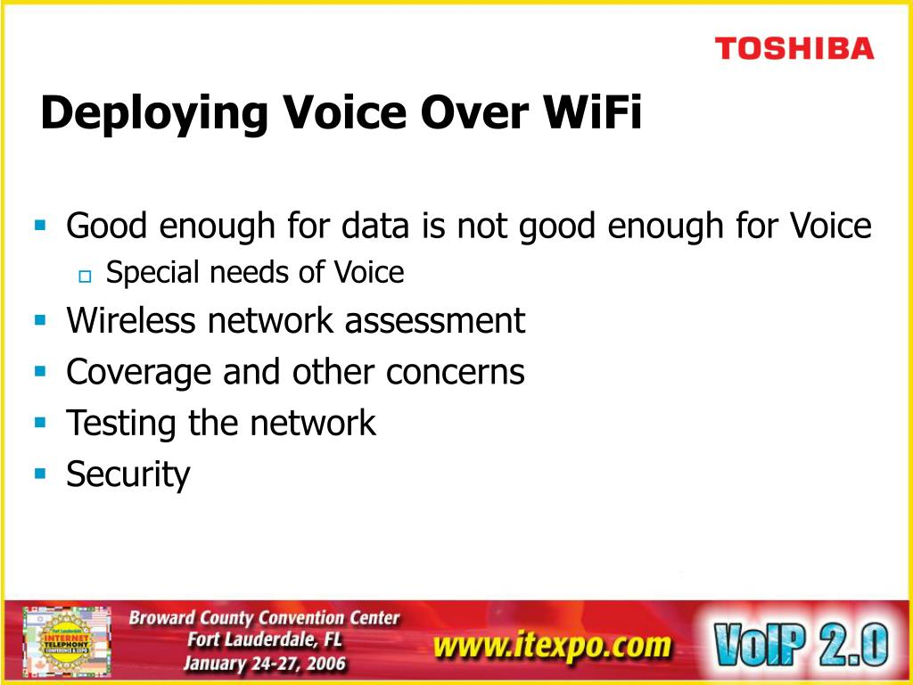 Deploying Voice Over WiFi