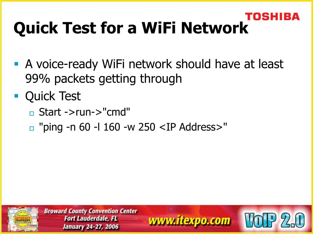 Quick Test for a WiFi Network