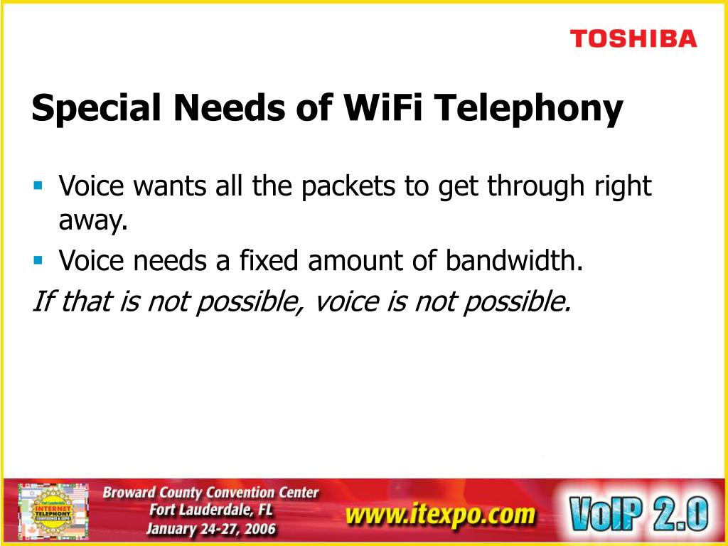 Special Needs of WiFi Telephony