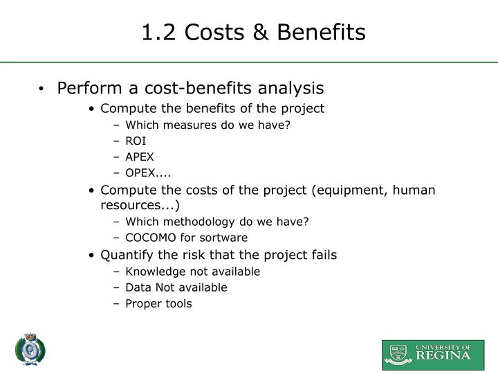 1.2 Costs & Benefits