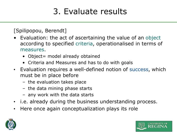 3. Evaluate results