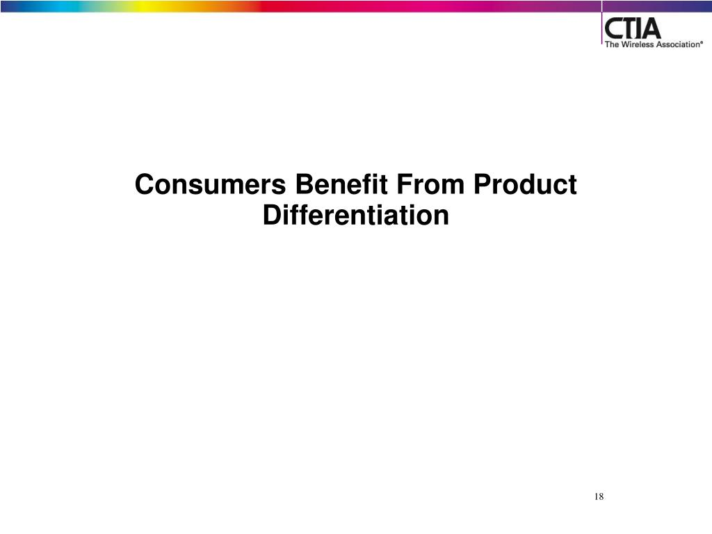 Consumers Benefit From Product Differentiation