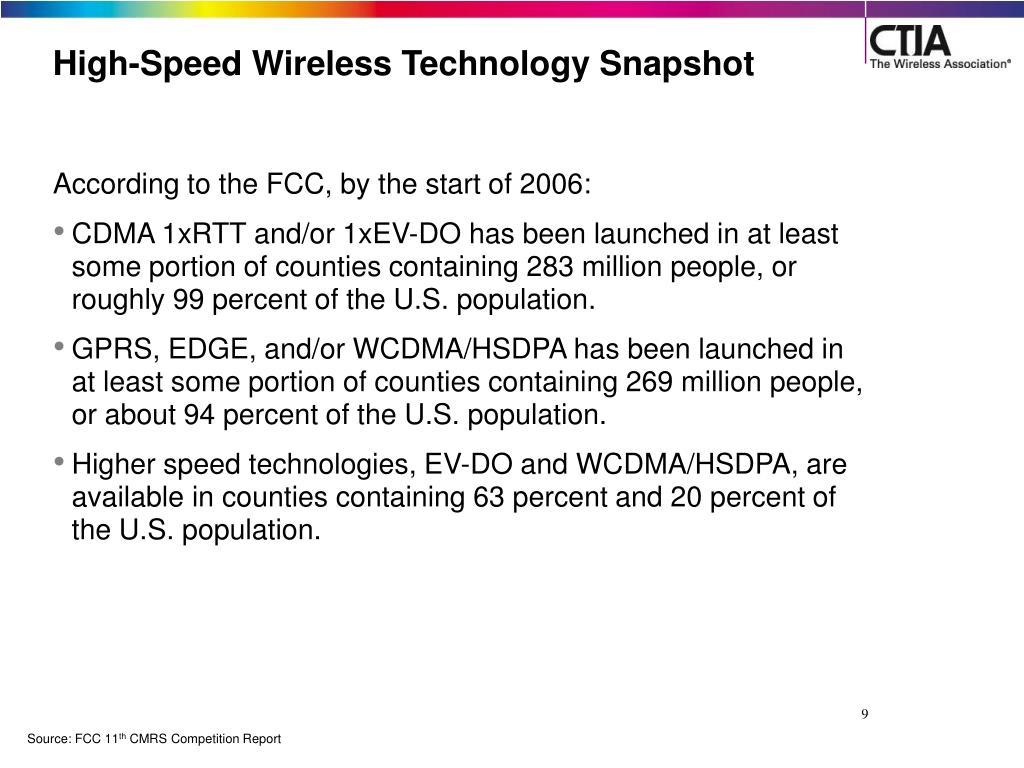 High-Speed Wireless Technology Snapshot