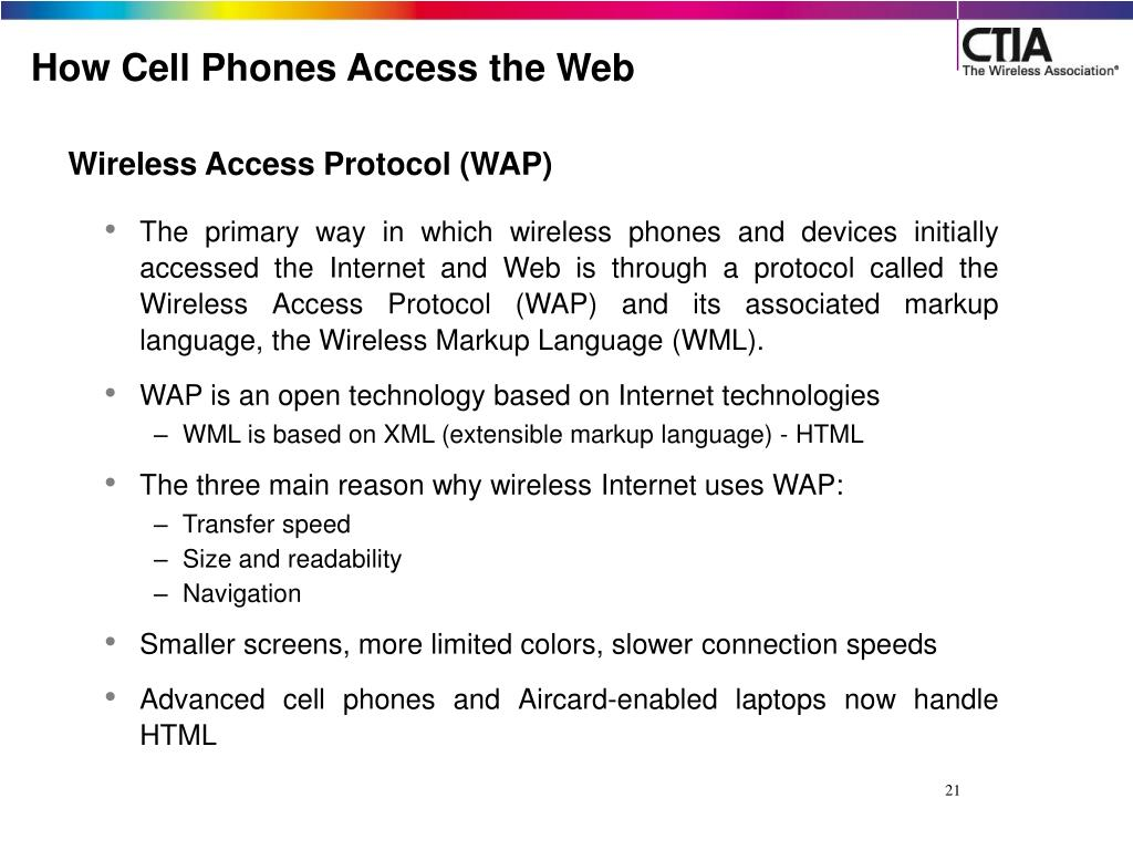 How Cell Phones Access the Web