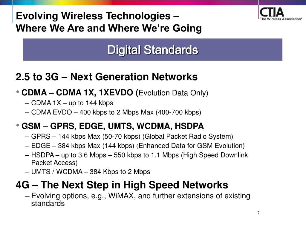 Evolving Wireless Technologies –