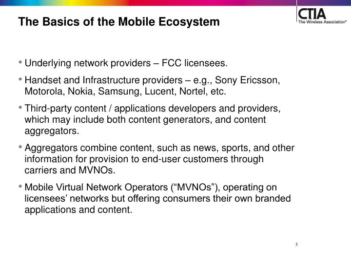 The basics of the mobile ecosystem