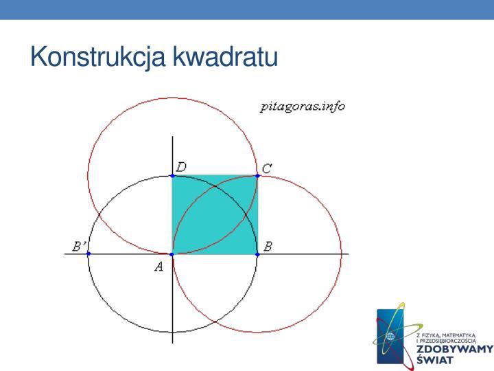 Konstrukcja kwadratu