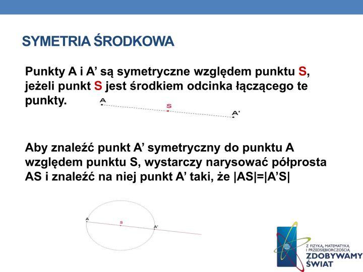 Symetria środkowa