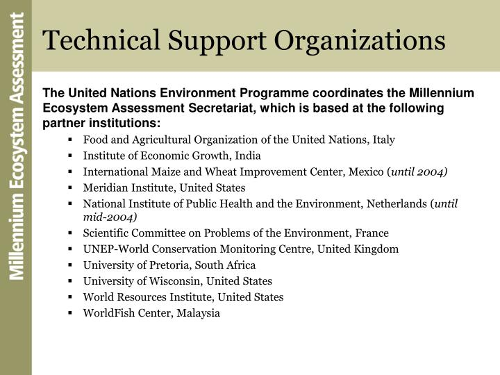 Technical Support Organizations