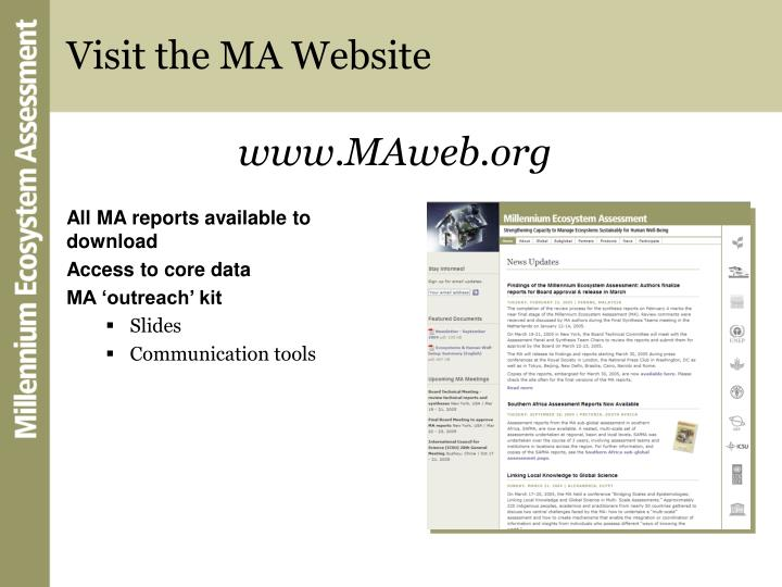 Visit the MA Website