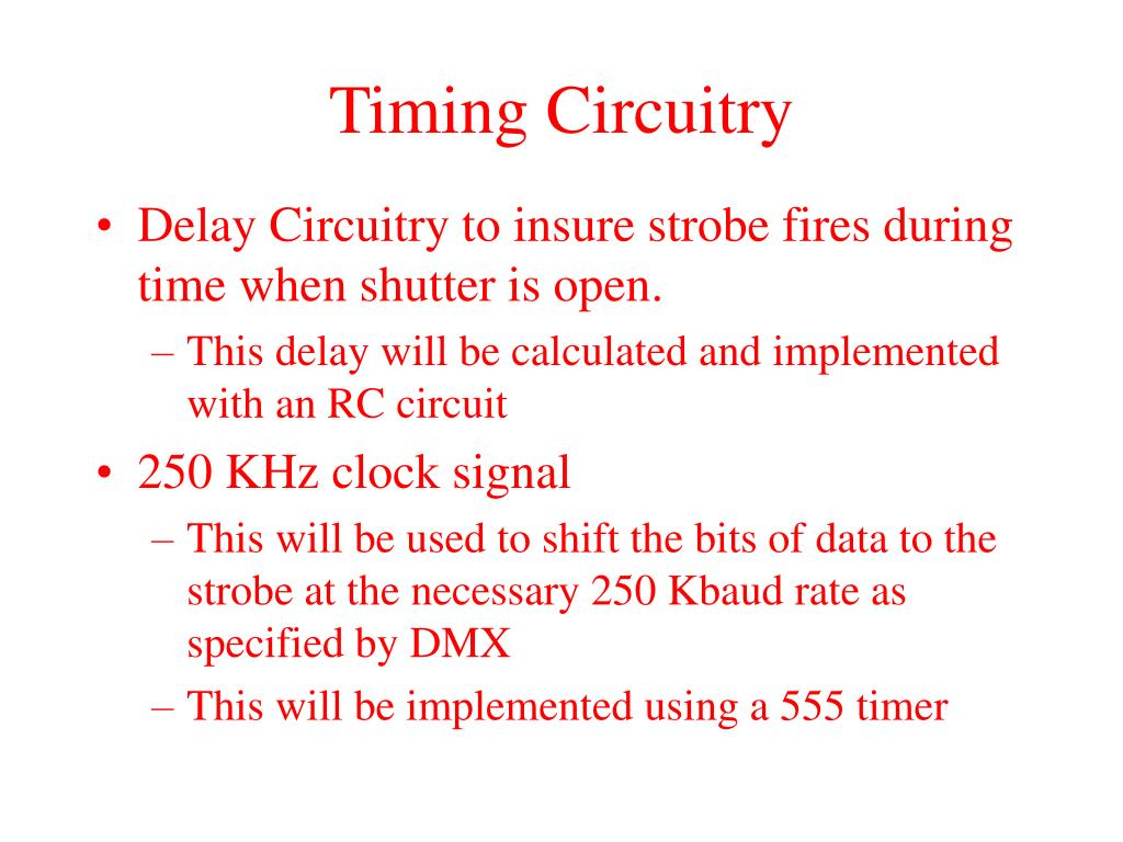 Timing Circuitry