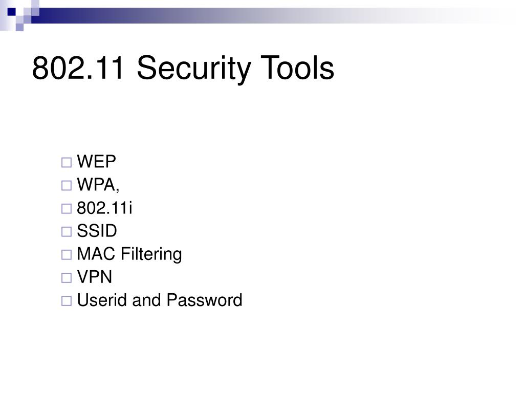 802.11 Security Tools