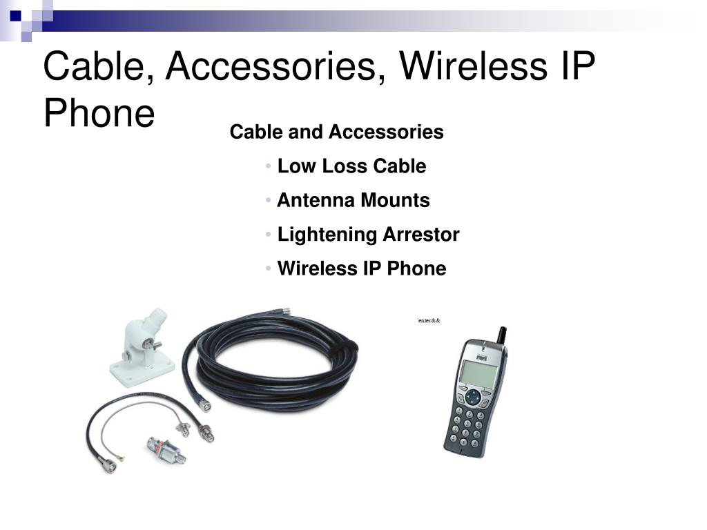 Cable, Accessories, Wireless IP Phone