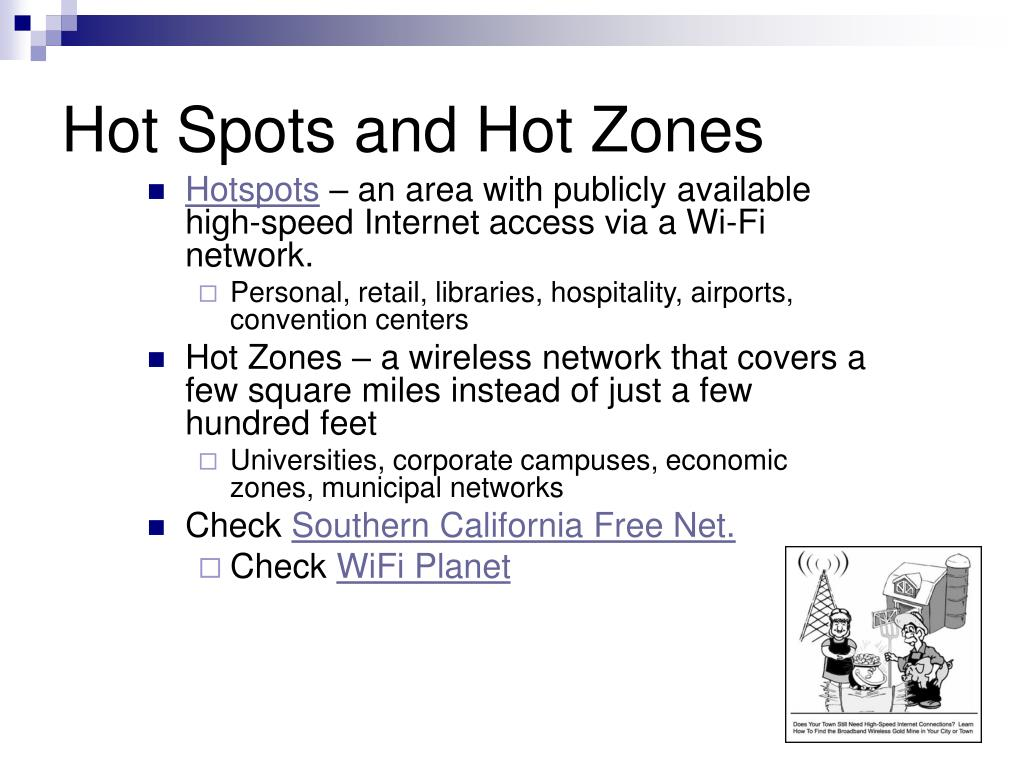 Hot Spots and Hot Zones