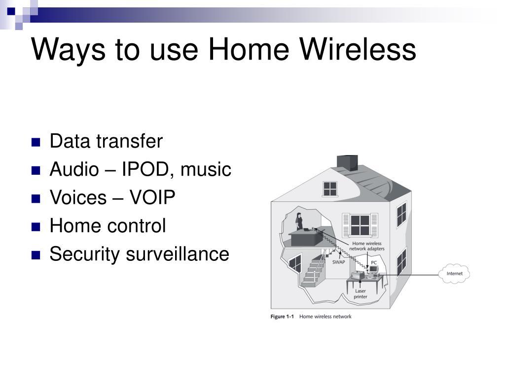 Ways to use Home Wireless