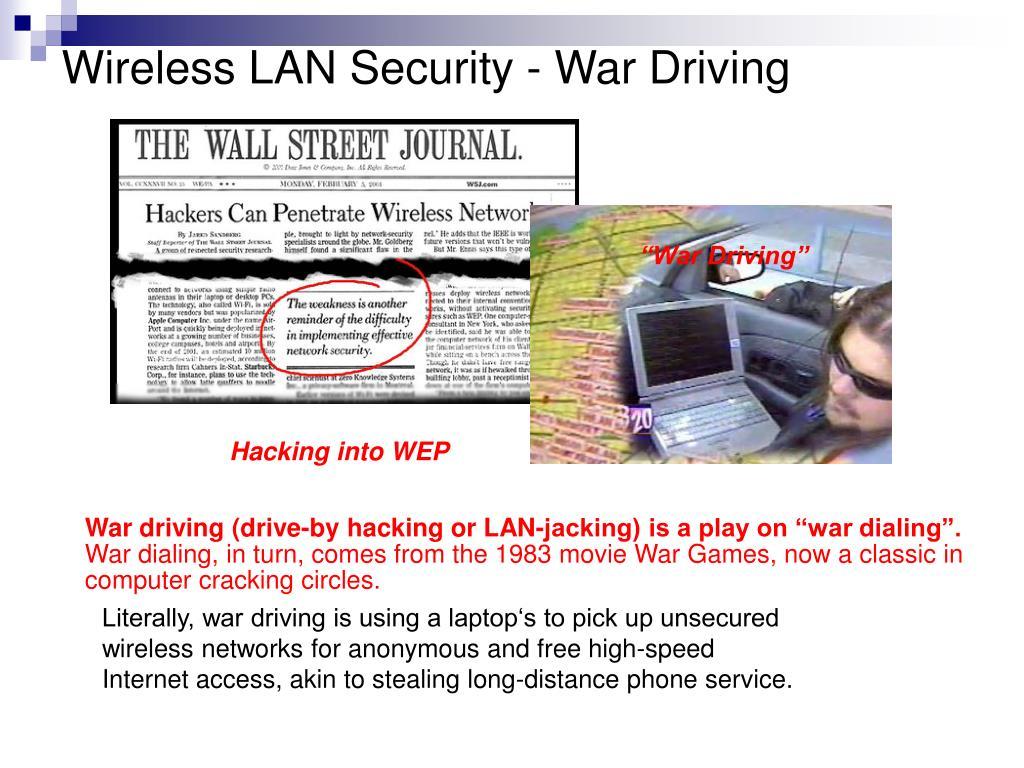 Wireless LAN Security - War Driving