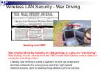 wireless lan security war driving